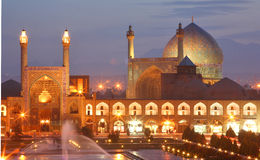 Night view of Esfahan, Iran Royalty Free Stock Photo