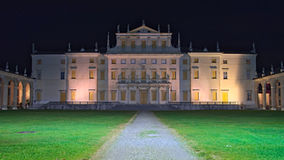 Night view of the facade of Villa Manin. Passariano, Codroipo, Udine, Italy stock photography
