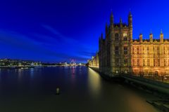 Night view of the famous Big Ben, London, United Kingdom Stock Photography