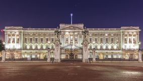 Night view of the famous Buckingham Palace, London, United Kingd Royalty Free Stock Images