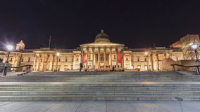 Night view of the famous The National Gallery, London, United Ki Stock Photos
