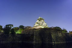 Night view of the famous Osaka Castle. Night view of the famous and historical Osaka Castle at Osaka, Japan Royalty Free Stock Image