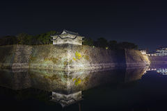 Night view of the famous Osaka Castle. Night view of the famous and historical Osaka Castle at Osaka, Japan Stock Photo