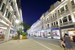 The zhongshanlu commercial walking street night sight, adobe rgb. Night view of the famous zhongshan commercial street, xiamen city, china Royalty Free Stock Image