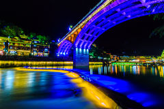 Night view of fenghuang ancient town Royalty Free Stock Image