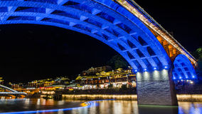 Night view of Fenghuang, China Royalty Free Stock Photography
