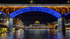 Night view of Fenghuang, China Stock Image