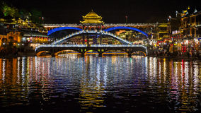 Night view of Fenghuang, China Royalty Free Stock Images