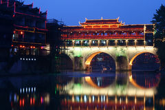 Night view of Fenghuang County,China Royalty Free Stock Photography