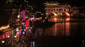 Night View Fenghuang stock video