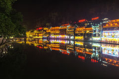 Night view of fenghuang Stock Photos