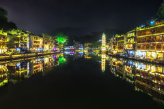 Night view of fenghuang Stock Images