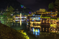 Night view of fenghuang Stock Photo