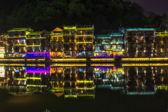 Night view of fenghuang Royalty Free Stock Image