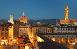 Night view of Florence Stock Photos