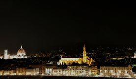 Night view in Florence city , Italy Stock Images