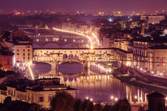 Night view of Florence Royalty Free Stock Images
