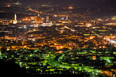 Night view of Florence from Fiesole. Royalty Free Stock Photos