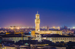 Night view of Florence Stock Photo