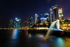 Night view of the garden singapore Stock Image