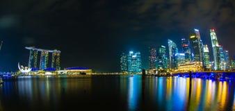 Night view of the garden singapore Stock Photo