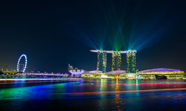 Night view of the garden singapore Stock Photos