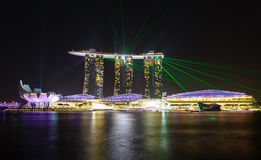 Night view of the garden singapore Stock Images