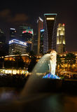 Night view of the garden singapore Royalty Free Stock Images