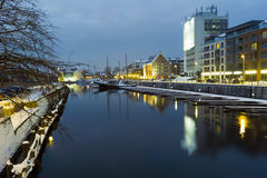 Night view of Gdansk. Stock Photo