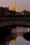 Night view of Girona, Catalonia, Spain Royalty Free Stock Photo