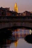 Night view of Girona, Catalonia, Spain Royalty Free Stock Photo
