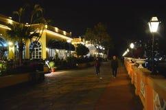 Night View of Gold Coast Piazza, Hong Kong royalty free stock image