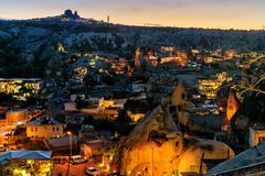 Night view of Goreme town. Cappadocia. Turkey Stock Image