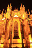 Night View on gothic St. Vitus' Cathedral on Prague Castle Royalty Free Stock Photography