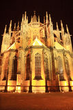 Night View on gothic St. Vitus' Cathedral on Prague Castle, Czech Republic Stock Photo