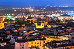Night view of Granada, Spain royalty free stock photos