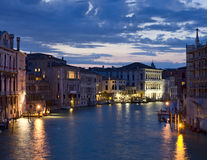 Night view on Grand Canal Stock Photos