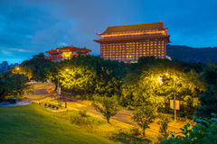 Night view of grand hotel in taipei, taiwan Royalty Free Stock Photography