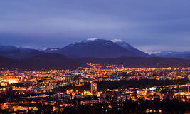 Night view of Grenoble Royalty Free Stock Photos