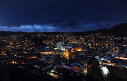 Night view in Guanajuato, Mexico. Stock Images