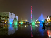 Night view of guangzhou Stock Photography