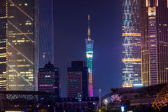 Night view of Guangzhou Royalty Free Stock Images
