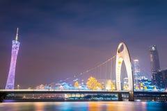 Night view of guangzhou Stock Image