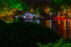 Night view at Guilin. Guangxi province, China stock images