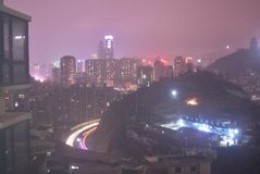 Night view of guiyang in winter royalty free stock images