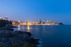 Night View at Haeundae beach stock images