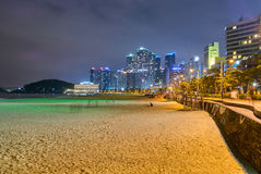 Night view of Haeundae Stock Image