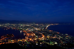 Night view of Hakodate. Stock Image
