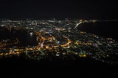 Night View in Hakodate City Stock Image