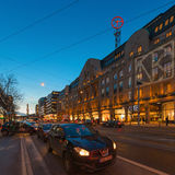 Night view of Hamngatan with Nordiska Komaniet Stock Photos